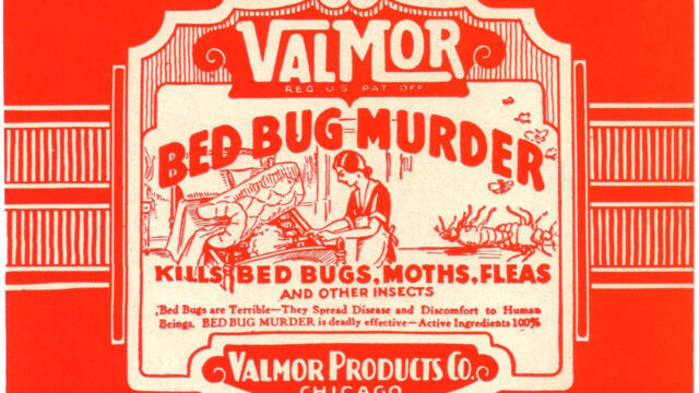 Valmor 'Bed bug murder' label