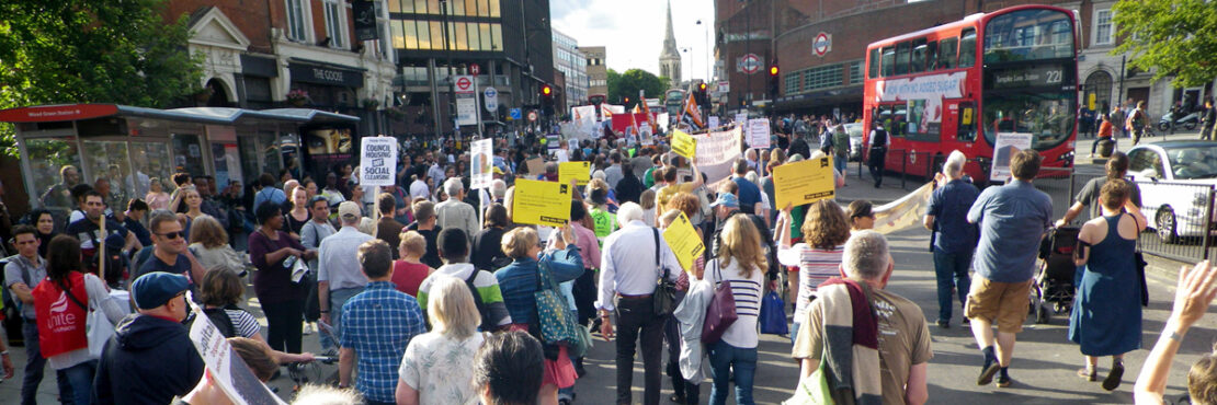 Image by Haringey Liberal Democrats. A march on housing rights.